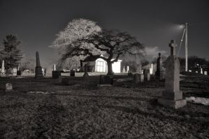 Night-time In The Cemetery II by PaulMcKinnon