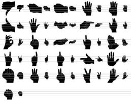 Black Hand Icons by Ikont