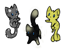 Silver, Black and Gold Cat Adopts- OPEN by SoftcloudRC