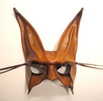 Leather Rabbit Mask brown-blk by teonova