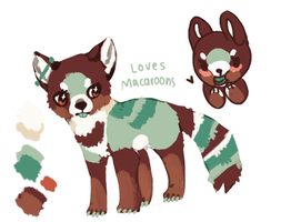 Red panda design by Magicpawed
