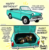 HAPPY 16 B-DAY WHOMEVER by Booter-Freak