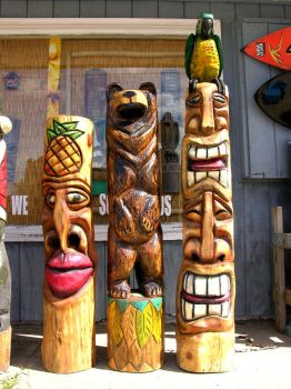 Totem Pole Stock 7 by FairieGoodMother