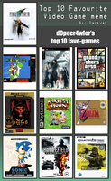 My Top 10 Fave-Games by d0pecr4wler