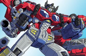 Cybertron Optimus Prime by Dan-the-artguy