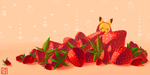 Draw This Again: Pikachu and Strawberries by Gryphon-Shifter