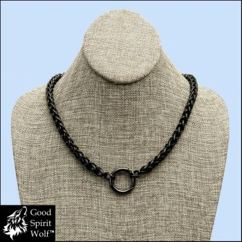 Black Steel Viking Braid Multi-purpose Necklace by GoodSpiritWolf