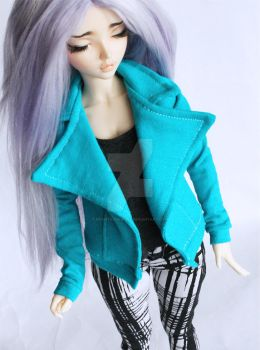Tarty Turquoise Moto Jacket by MonstroDesigns