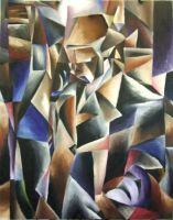 Cubist Self-Portrait by Heimdal00