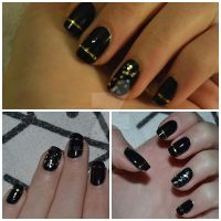 New years eve nails by siljejo96