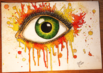 Flaming Green Eye by Chillthee