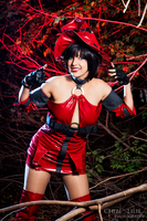 Duel 1! Let's rock! by Shermie-Cosplay
