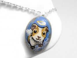 Guinea Pig Angel Pendant Necklace by sobeyondthis