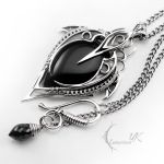 LUNTIRNEX - silver and black onyx by LUNARIEEN