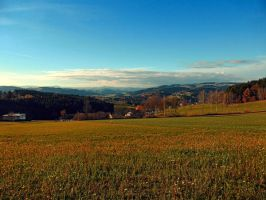 Panorama at indian summer by patrickjobst