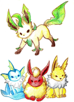 Crayon eeveelutions by mafbot
