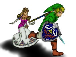 Link And Zelda by animedudevid