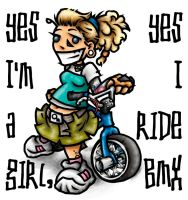 yes I'm a girl, yes I ride BMX by phallus