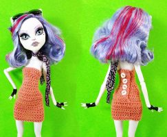 Simple Tube Dress for Monster High by periwinkleimp