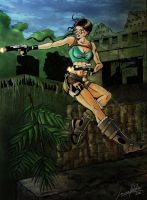 Lara Croft colored by Striped-Stocking