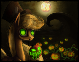 NightmareNight-Applejack by Vongrell