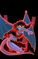 Red Lantern Demona Ritter by powerbomb1411