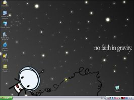 My current desktop by Anere