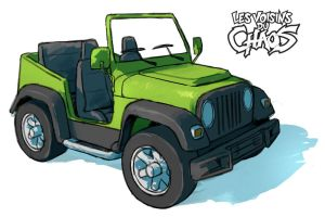 Jeep concept art by Tohad