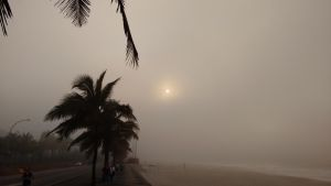 The Sun against the fog by TheDrifterWithin
