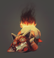 Commission:Burning by salanchu
