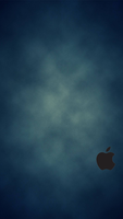 iPhone 5 Blue Wallpaper Black Logo by SimpleWallpapers