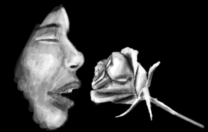 Smelling a rose by XerafCZ