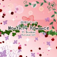 Monthly Romance Brushes by kabocha