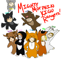 MIGHTY MORPHIN KIGU RANGERS by stranger-to-you