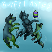 Underwater Easter Egg Hunt by FrostbittenRuins