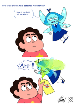 My First Mini Comic-Aquamarine and Steven by MyDiamondsSU