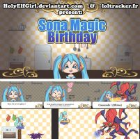 Sona magic birthday  VIDEOGAME by HolyElfGirl
