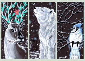 MY XMAS POSTCARDS by lpspalmer