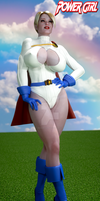 Power Girl Daydreaming by BDAndrogyne