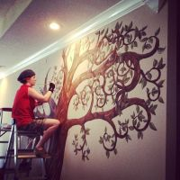 Me Painting a Tree by Yavanni