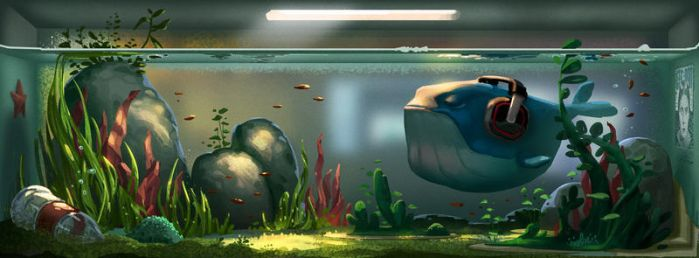 A big fish in a little tank... by cloudintrousers