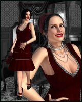 RED for DY 20s Era Outfit V4 by DiYanira