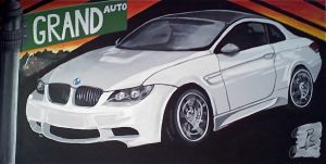 BMW Mural at Grand Auto by grendel2040