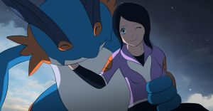 Andry and Swampert by All0412