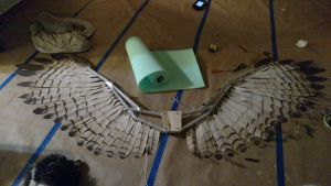 WIP phnumatic articulating hawk wings by TheGriffinQueen