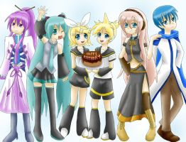 Happy Vocaloid Birthday to me by SweetxSnowxDream