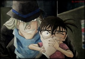 Movie 13 , First Scene with Gin and Conan by Sareeey