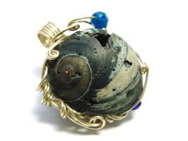 Custom Moonsnail Pendant for L by sojourncuriosities
