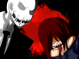lol ask slender man and may by Saya-Chan-7