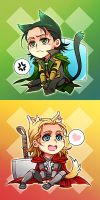 Marvel-Thor and Loki 4 by Athew